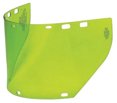 Salisbury by Honeywell 7 1/2'' X 20'' X .06'' Green Unbound Polycarbonate Arc Flash Replacement Faceshield