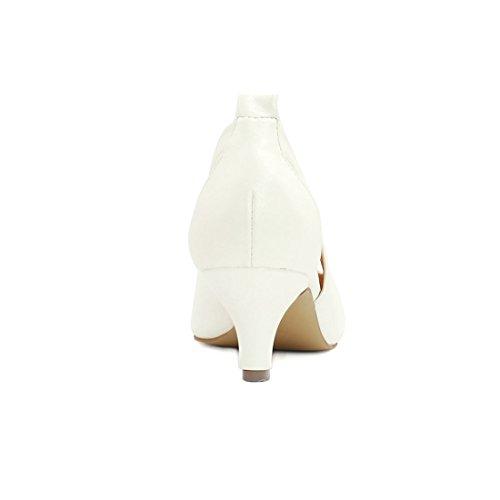 Allegra Lati Esclusione Bianco US K Gattino Donne 7 Pompe Tacco Punta rwprxUAq