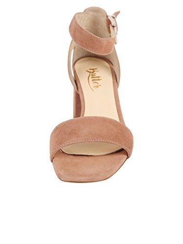 Butter Shoes Womens Feline Sandal Sand Suede 6XSydGc