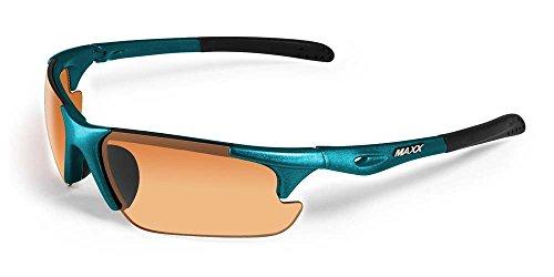 2017 Maxx Sunglasses TR90 Maxx Storm Turquoise HD Amber - Maxx Golf Sunglasses
