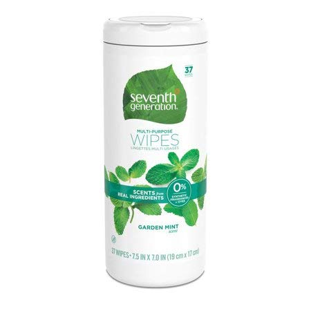 Seventh Generation Multi-Purpose Wipes, Refreshing Garden Mint, 37 count (3 pack)