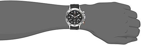 Nautica Men's N14536 NST Stainless Steel Watch with Black Resin Band