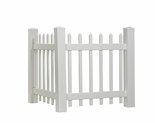 Outdoor Essentials Picket Accent Fence with Spade Shaped Cap, 36 by 40-Inch (Fencing To Hide Air Conditioners compare prices)