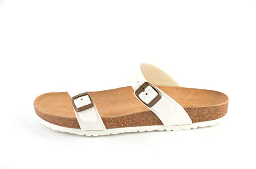 Herren Tinta aus Anatomischen Weiß Rio Naturkork Sandalen Le Clare Unita Fußbett mit nfUOqBW