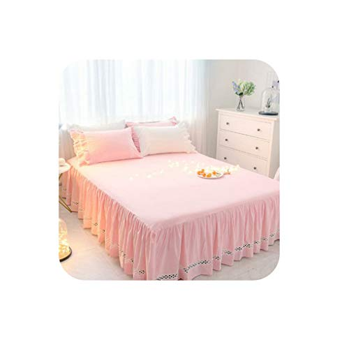 White Brown Pink Kids Girls Bed Skirt Mattress Bed Cover Full Twin Size Cotton Bed Sheet Set Single Double Bed Set,Bed Skirt 4,150CMX200CM 3PCS (Couch Pillows Ebay)