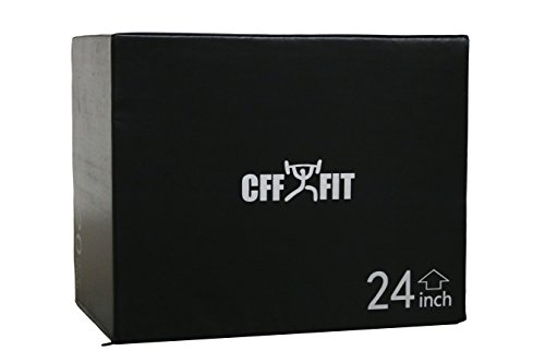 CFF Cushion 3-in-1 Plyo Box, Black, 20/24/30'' by CFF