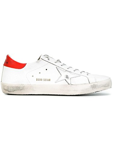 GOLDEN GOOSE HOMME G30MS590F55 BLANC/ROUGE CUIR BASKETS