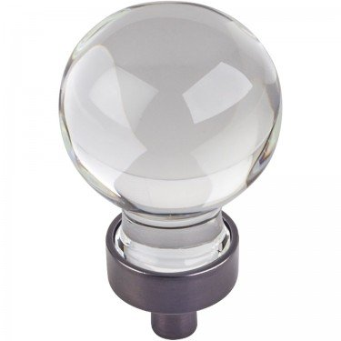 Jeffrey Alexander Harlow 1-1/16'' Dia Glass Sphere Cabinet Knob - G130DBAC - Brushed Oil Rubbed Bronze