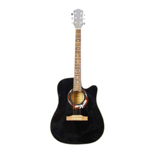 Olymstore(TM) Beginner 41 Inch Wood Folk Cutaway Acoustic Guitar With Wrench Black