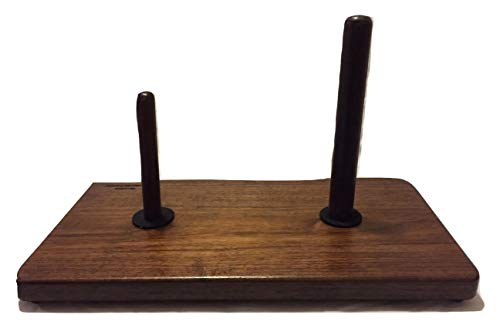 Double Flute Stand Solid Walnut
