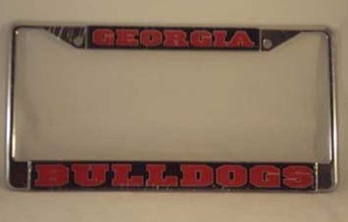 Georgia Bulldogs Plate Frame DOMED GA METAL PLATE FRAME