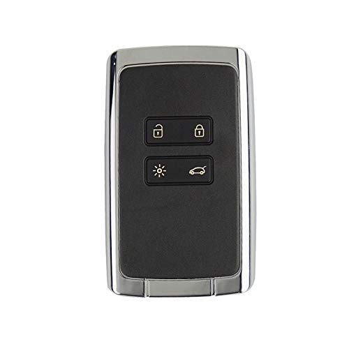 Amautolucky 4 Buttons Car Key Remote Shell for Renault Koleos Kadjar Megan 2016-2017 Smart Key
