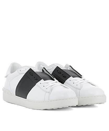 Nero VALENTINO Sneakers Uomo Bianco Pelle GARAVANI Qy2s0830blua01 FBO1FY