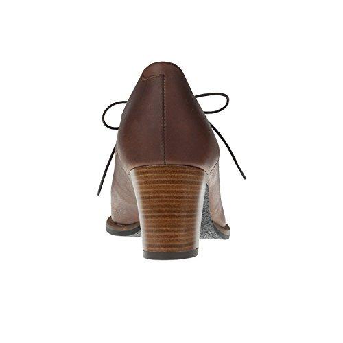 tessamino Damen Pumps aus Echtleder | elegant | Weite G | mit Lederfußbett Braun