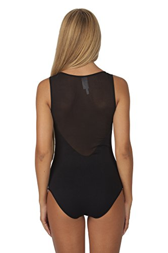 6f01fb8362 Hollywood Star Fashion Women s Sleeveless Mesh-back Sweetheart Leotard  BodySuit - Image 1