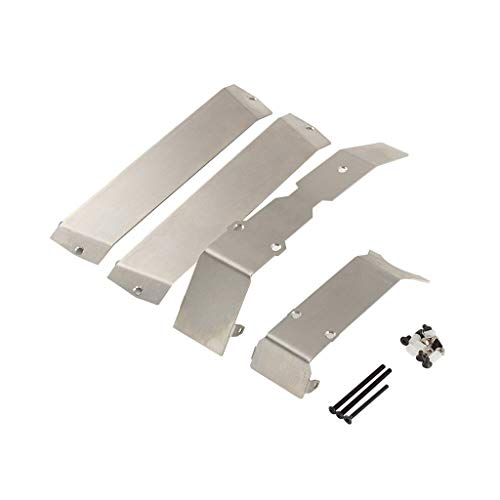 Binory Stainless Steel Chassis Armor Skid Plate for 1/10 Traxxas ERevo E-Revo 2.0 New Toy Accessories