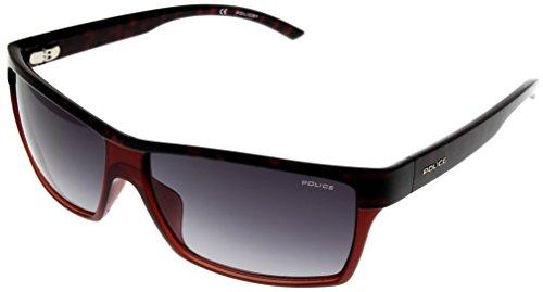 Police Sunglasses Unisex Purple Havana Rectangular S1719 - Sunglasses Police Cheap