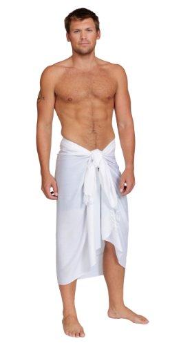 Sarongs Unicolore blanco Sarong hombres para mundo 1 de wTxwqY8d7