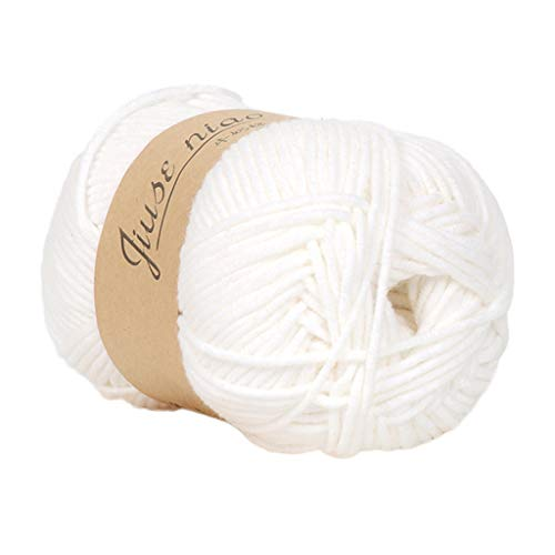 ZTY66 Worsted 50g Sweater Soft Chunky Wool Cashmere Knitting Knitted Warm Baby Handcraft Chunky Yarn (A)