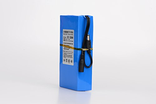 ABENIC Super Polymer Rechargeable 20000mAh Lithium-ion Battery DC 12V ,DC122000 Blue