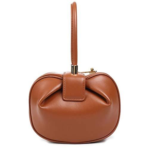 Portable Taille Boulette Exquis Caramel Caramel Joli Grande couleur Onesize De Main Rétro Ethba Mode À Dame Couleur Sac Capacité 8xEHvqa