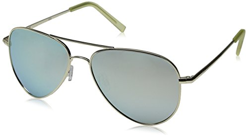 Polaroid Sunglasses PLD6012N Polarized Aviator Sunglasses, Gold/Gray Silver Mirror Polarized, 56 ()