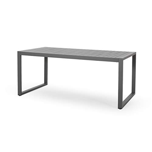 Edith Outdoor Dining Table, Gray