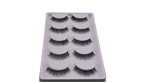 False Eyelashes, Emubody 5 Pair Natural Look False Eyelashes Voluminous Eyelashes Extension (Natural Art Duo)