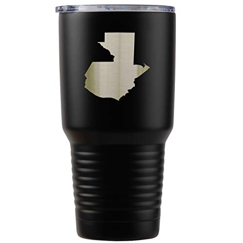 - Guatemala Black Stainless Steel Tumbler, 30 Oz Insulated Tumbler, Laser Etched In Usa