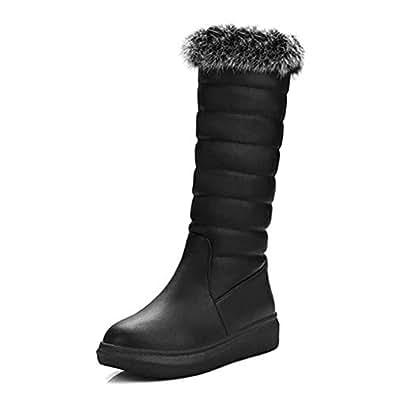 Amazon.com | Winter Women Snow Boots Real Warm Fur Plush