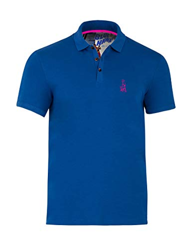 Blue Hawaii Polo with Elvis Chest Logo (Snorkel Blue, X-Large)
