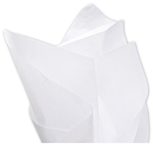 Basic Solid White Bulk Tissue Paper 15 x 20 960 Sheets