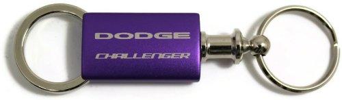 UPC 757901348884, Dodge Challenger Purple Valet Key Fob Authentic Logo Key Chain Key Ring Keytag Lanyard