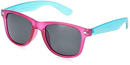 Ocean Sunglasses Beach wayfarer - lunettes de soleil polarisées - Monture : Violet Glacé Transparent/Rouge - Verres : Fumée (18202.29) 36Eu27A