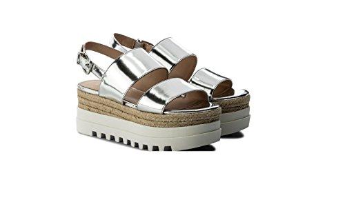 Pour Argenté Jo Liu Jeans Femme Sandales Argent qx0BCXR