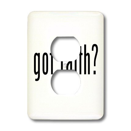 lsp_15959_6 Mark Andrews ZeGear Spiritual - Got Faith - Light Switch Covers - 2 plug outlet cover by 3dRose