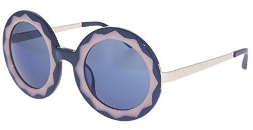 MARKUS LUPFER LINDA FARROW Round Star Blue Pink Mirrored ML11 - Linda Sunglasses Farrow