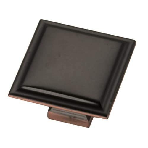 Belwith Bronze Knobs - Belwith-Keeler B055577-OBH Studio II Knob 1-1/2-Inch Square, Oil-Rubbed Bronze Highlighted
