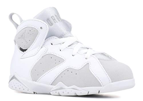 Silver Signature Basketball (Jordan 7 Retro BT Toddler Shoes White/Metallic Silver 304772-120 (10 M US))