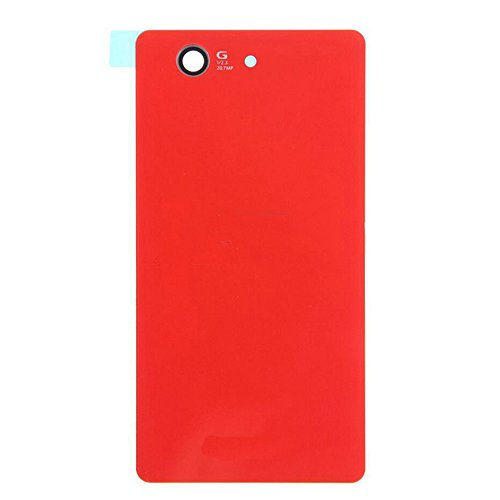 LUVSS New Back Glass Replacement for Sony Xperia Z3 Compact (Z3 Mini) D5803 D5833 Rear Cover Glass Panel Case Housing with Adhesive Preinstalled Repair Part (Orange)
