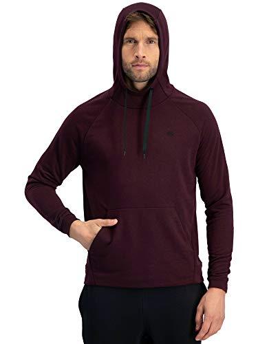 Hoody Maroon Sweatshirt (Dry Fit Mens Hoodies Pullover - Workout Sweatshirts for Men w/Adjustable Hoodie Maroon)