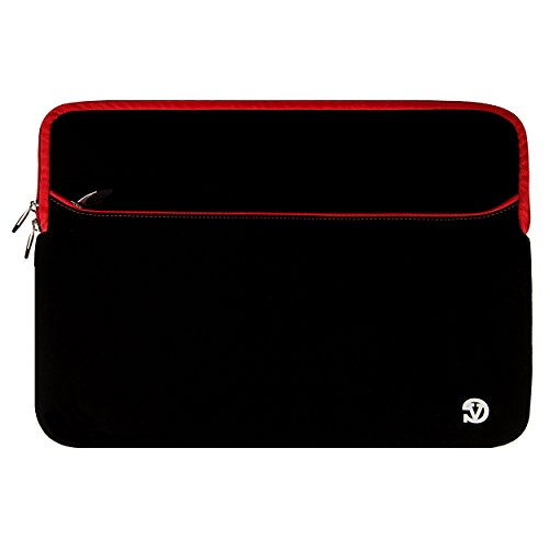 VanGoddy Neoprene Sleeve Cover for Sony VAIO 14-inch Laptops (Red Trim) (Sony Vaio Cover Laptop)