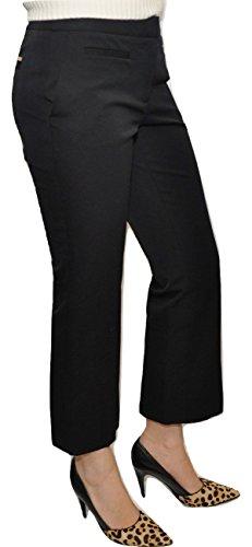 MICHAEL Michael Kors Stretch Cotton Blend Cropped Pants Trousers, Black (6)