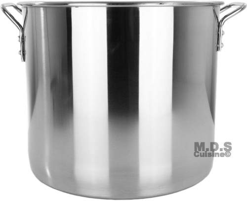 Stock Pot Stainless Steel 100 QT Steamer Brew Vaporera Tamalera for Tamales (25gallons)