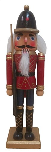 Red Soldier with Gun Wooden Christmas Nutcracker 9 (Christmas Wooden Soldiers)