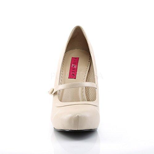 Higher-Heels Pink Label Damen Mary Janes Pinup-01 Creme Matt Gr. 40