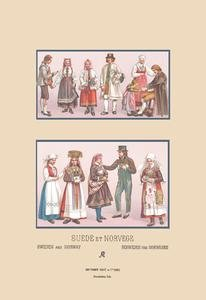 (Popular Scandinavian Fashions of the Peasant Class Fine art Giclee canvas print (20