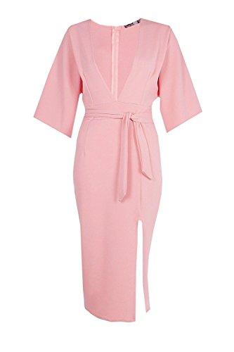 Buy belted blush maxi dress - 5