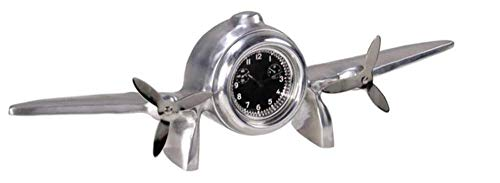1930s Art Deco Flight Clock with White Face Aviation Gift and Decor ()