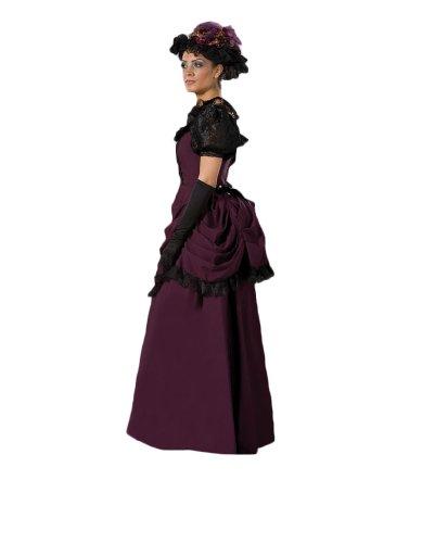 [Women's 19th Centry Victorian Dress Theater Costume Small Purple] (Victorian Era Womens Costumes)